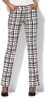 New York & Co. 7th Avenue Pant - Straight-Leg - Signature - Check Print