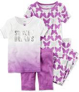 Carter's 4-Pc. Sweet Dreams Cotton Pajama Set, Toddler Girls (2T-4T)