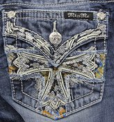 Miss Me Women's Mid Rise Cross Embellished Boot Cut
