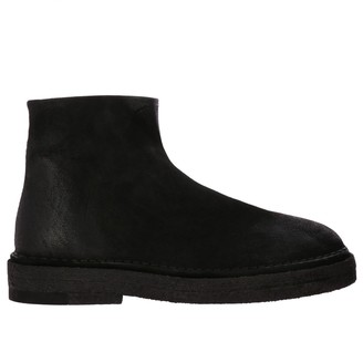 Marsèll Boots Parapa Ankle Boots In Suede With Rubber Sole And Zip