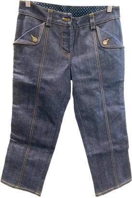 Louis Vuitton Blue Cotton Jeans