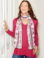 M&Co Tunic top with floral scarf