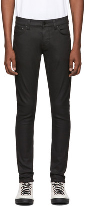 Nudie Jeans Black Painted Tight Terry Jeans