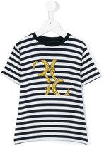 Billionaire Kids - striped print T-shirt - kids - Spandex/Elastane/Viscose - 6 yrs