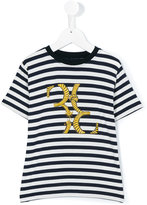 Billionaire Kids - striped print T-shirt - kids - Viscose/Spandex/Elastane - 6 yrs