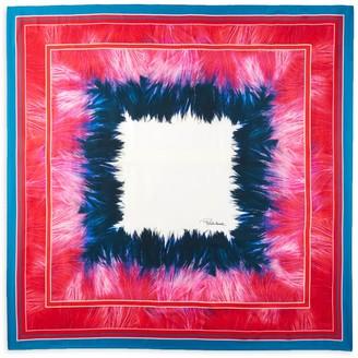 Roberto Cavalli Abstract Silk Scarf
