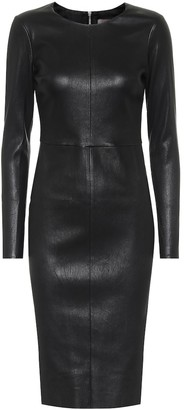STOULS Pao leather midi dress