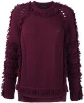Belstaff raw edge raglan sleeve jumper - women - Silk/Cashmere/Wool - XS