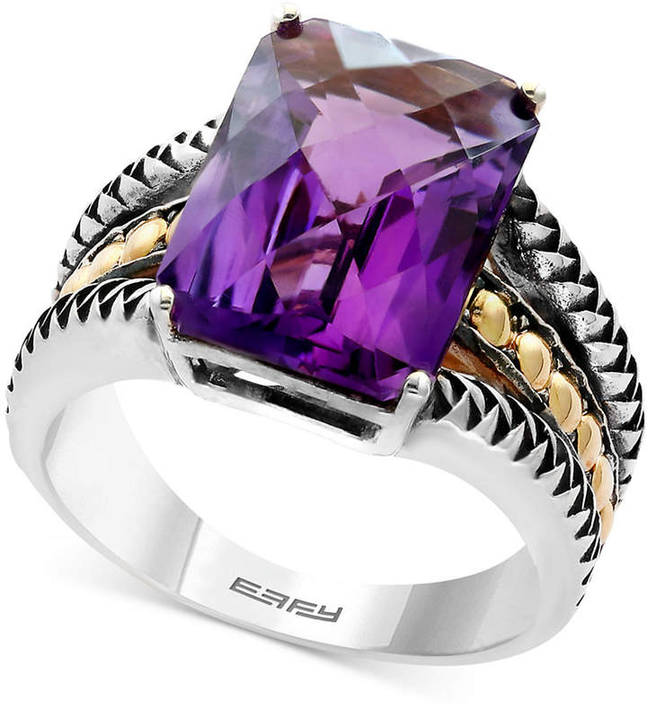 Effy Balissima Amethyst Statement Ring (5-1/4 ct. t.w.) in Sterling Silver and 18k Gold