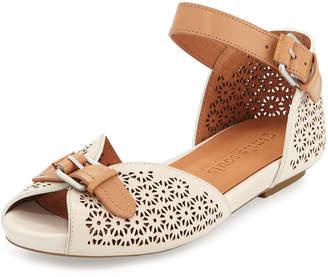 Gentle Souls Bessie Laser-Cut Sandals