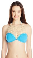 Bikini Lab Women's This Is The Remix High Neck Bralette Top