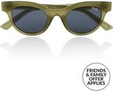 Quay X Kylie Jenner Starstruck Rounded Sunglasses-Green