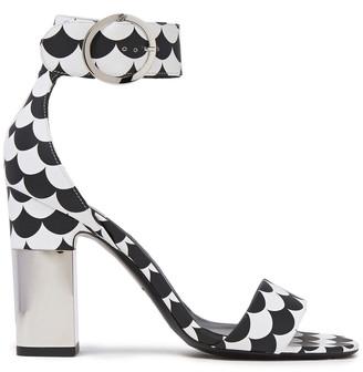 Roger Vivier Scalloped Two-tone Leather Sandals