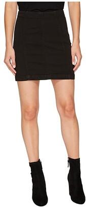 Free People Denim Modern Femme Skirt (Black) Women's Skirt