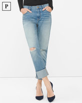 White House Black Market Petite Destructed Boyfriend Jeans