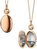 "Monica Rich Kosann Anna 18k Rose Gold Petite Locket Necklace, 17""L"