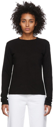 RE/DONE Black Heritage Long Sleeve T-Shirt