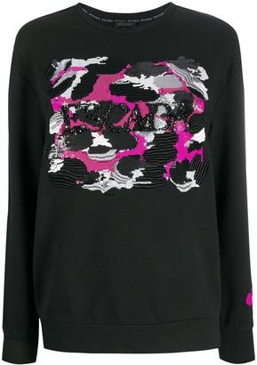 Escada Sequin-Logo Sweatshirt