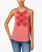 Style&Co. Style & Co Petite Embroidered Tank, Only at Macy's