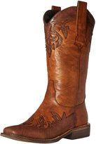 AdTec Women's 13 Inch Western Pull On Inlay Work Boot