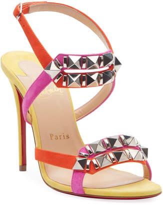 Christian Louboutin Galerietta 100 Suede Red Sole Sandals