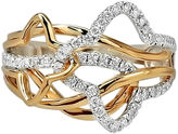 JCPenney FINE JEWELRY LIMITED QUANTITIES 3/8 CT. T.W. Diamond 14K Two-Tone Gold Ring