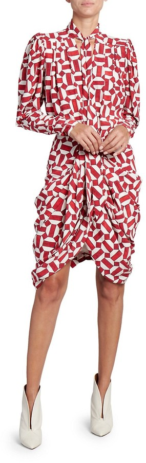 Thumbnail for your product : Isabel Marant Atoae Print Stretch-Silk Dress