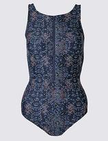 M&S Collection Post Surgery Secret SlimmingTM Geometric Print Swimsuit