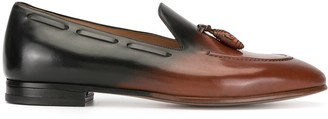 Francesco Russo Moccassin gradient loafers