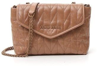 Miu Miu Quilted Logo Shoulder Bag