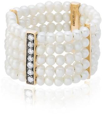 Anissa Kermiche Plurielle Dorée pearl ring