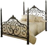 Hillsdale Furniture Parkwood Bed Set, Queen with Rails, Black Gold