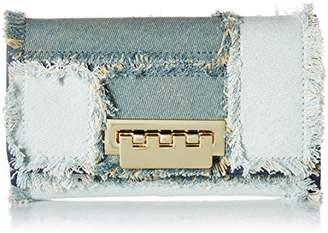 Zac Posen Earthette Crossbody Wallet-Denim Patchwork