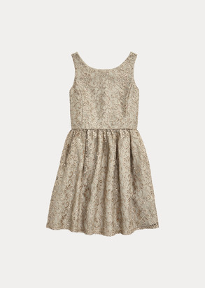 Ralph Lauren Metallic Lace Dress