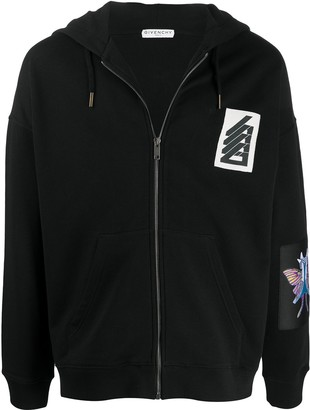 Givenchy Patch-Embellished Zipped Hoodie