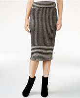 Rachel Roy Striped Knit Midi Skirt, Only at Macy's