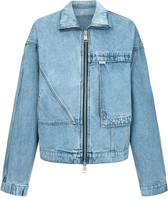 PortsPURE Oversized Zipped Denim Jacket
