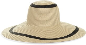 Kate Spade metallic stripe sun hat