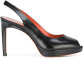 Santoni open toe pumps