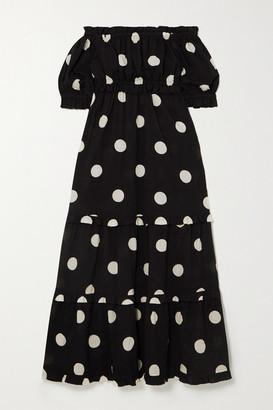 Peony Swimwear + Net Sustain Macaroon Organic Cotton And Ecovero-blend Dress - Black