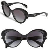 Prada 'Baroque' Cat's Eye Sunglasses Black One Size
