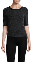 St. John Textured Back Zip Sweater