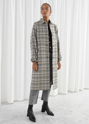 And other stories Plaid Check Long Tailored Coat