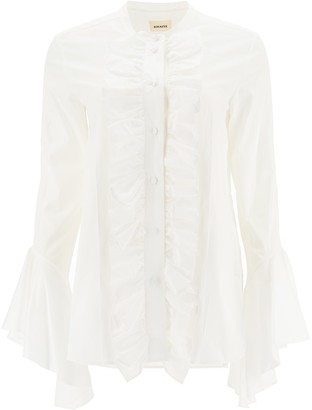 KHAITE Ruffle-Detailed Shirt
