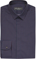 Salvatore Ferragamo Slim-fit square-print cotton shirt