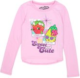 "Shopkins Little Girls ""Sweet and Cute"" Long Sleeve Shirt"