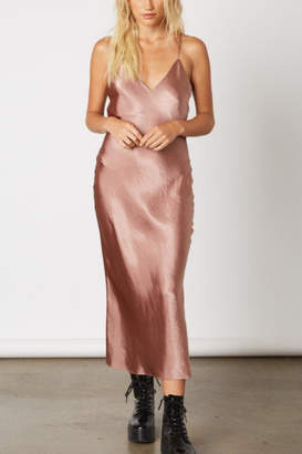 Cotton Candy To The Moon Taupe Slip Dress