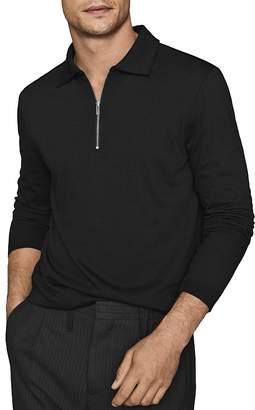 Reiss Swinton Long-Sleeve Half-Zip Polo Shirt