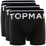 Topman Black Logo Trunks 3 Pack