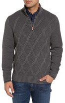 Tommy Bahama Men's Big & Tall Desert Diamond Quarter Zip Sweater
